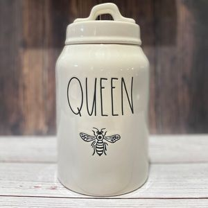 """RAE DUNN 🐝 """"QUEEN BEE"""" 🐝 Canister"""
